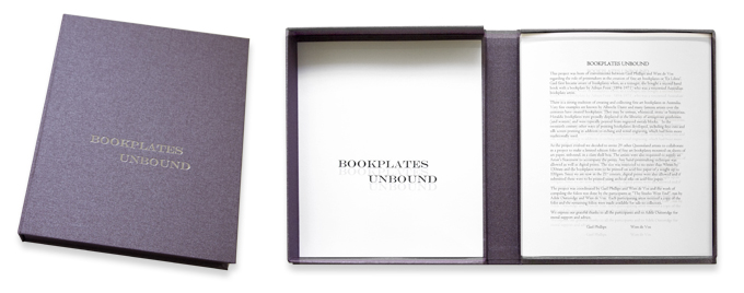 """Bookplates Unbound"" limited edition set (two views)  Photos: Doug Spowart"
