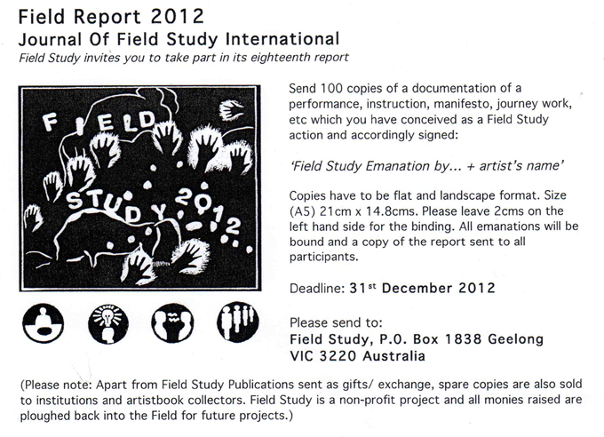 The call for 2012 contributions