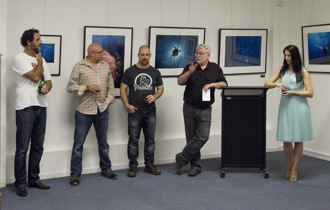The Foto Frenzy Team l-r Darren Jew, Tony Holden, Cam Attreee, Ian Poole and Susan BCH  PHOTO: Victoria Cooper