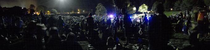The crowd @ Toowoomba New Years Eve fireworks display Photo: Doug Spowart