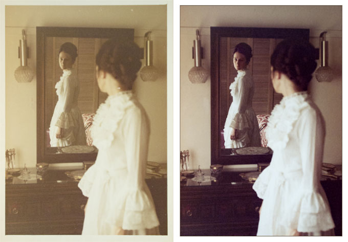 Before & after Adobe Photoshop restoration