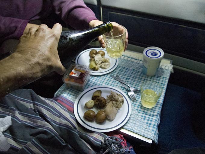 A camper's roast dinner