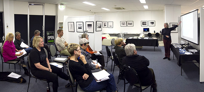 Victoria Cooper talking about photobooks @ Foto Frenzy