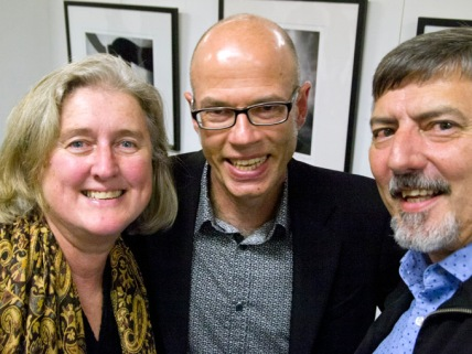 Vicky, Hardy and Doug @ the opening