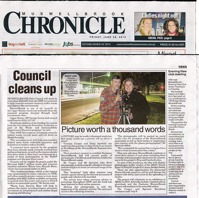 Chronicle News story: 28 June 2013