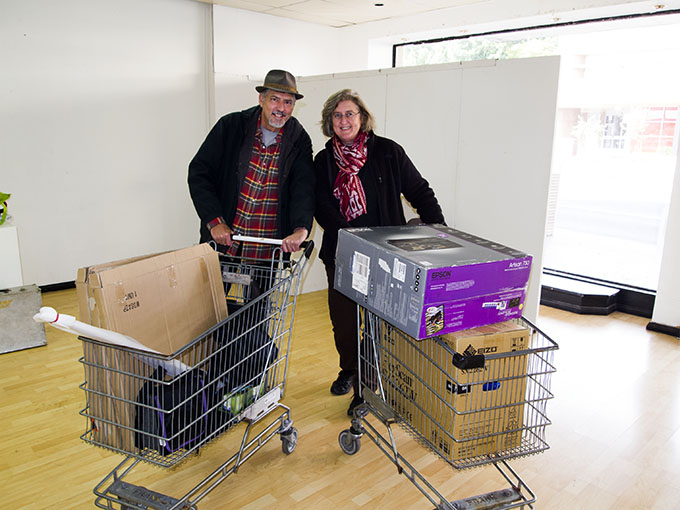 Doug+Vicky moving in to the Artists in Residence Studio