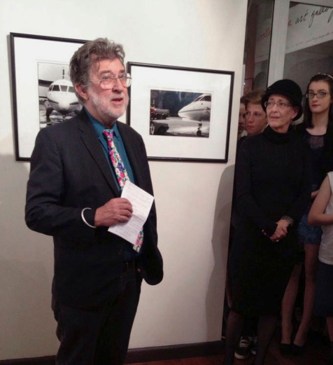 Glen O'Malley speaks @ the opening .... Photo courtesy of Olive Lin
