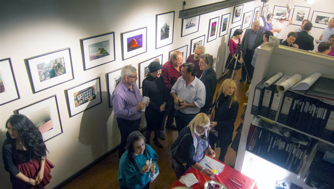 Exhibition attendees .... Photo courtesy of Robert Mercer