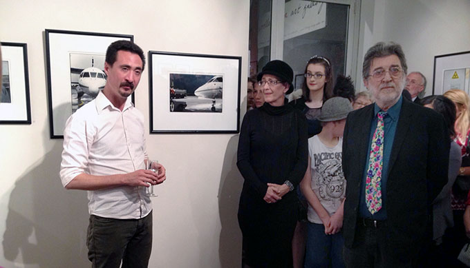 Alex Shaw - Director Wooloongabba Art Gallery .... Photo courtesy of Olive Lin