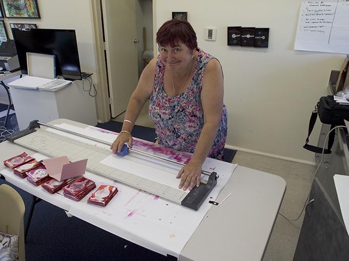Louise at work