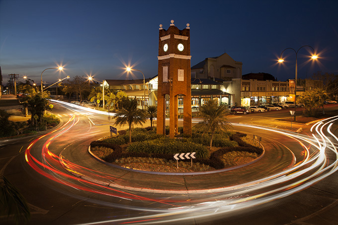 The Roundabout Clocktower from Weiley's Hotel balcony