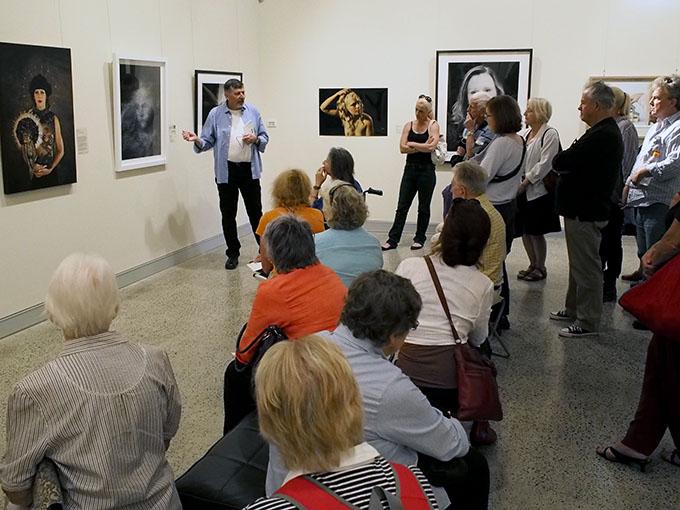 Doug Spowart presenting the floortalk