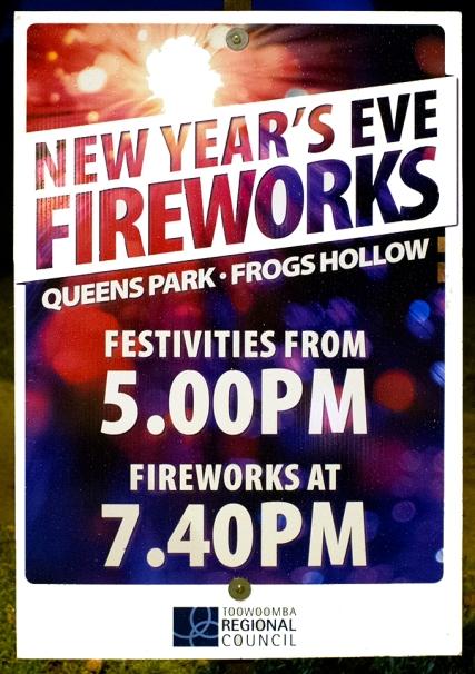 Toowoomba New Year's Eve Fireworks 2013-14. Photo: Doug Spowart + Victoria Cooper