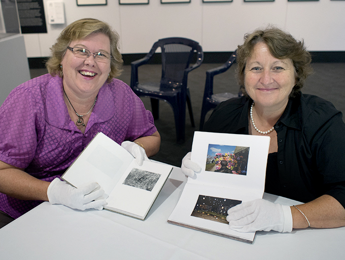Helen Gibbs and Lucy Robertson-Cunninghame (on Right) with Webber's book