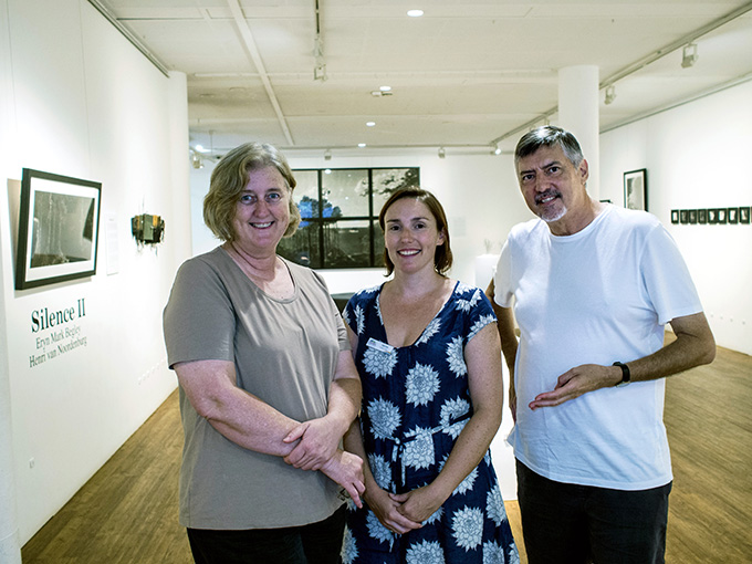 With Tudie Leigo BRAG Exhibitions Officer