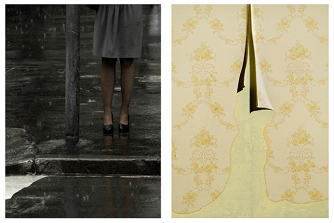 Two photographs by April Ward from the exhibition 'Around the world in 14 days'