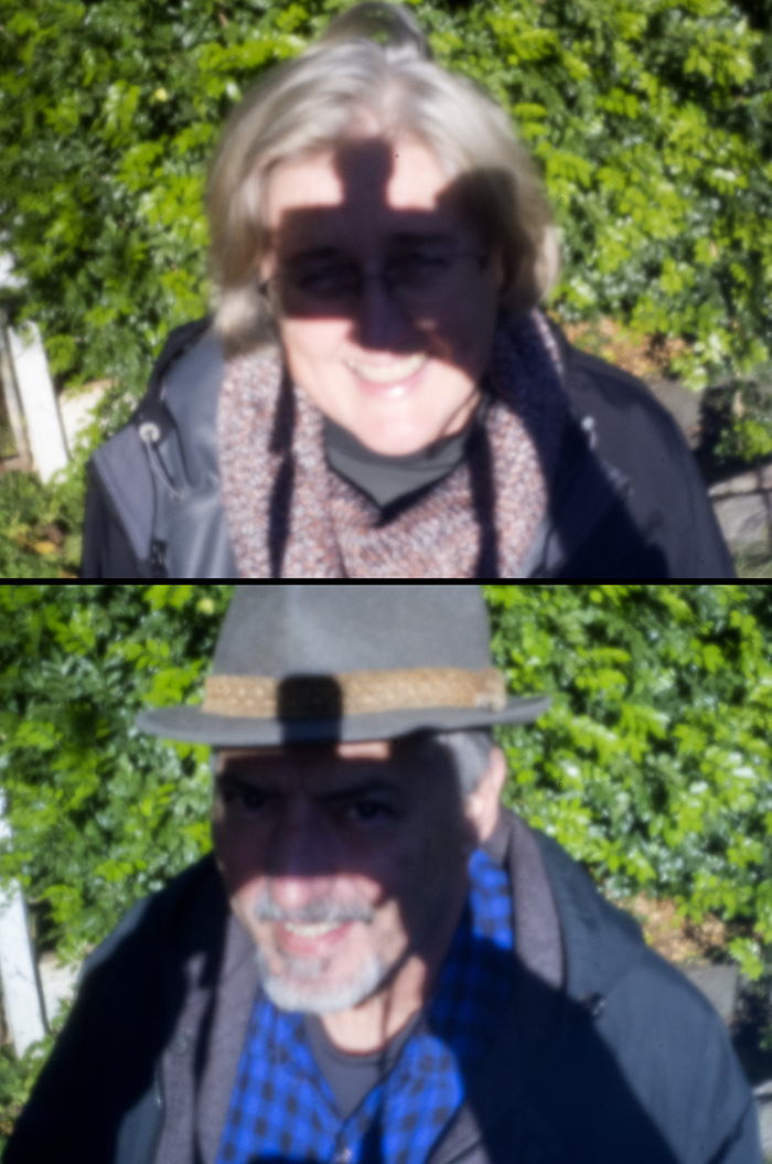 """""""A duo portrait - camera shadow to block the sun from the eyes --- A bit of self-portrait fun..."""""""