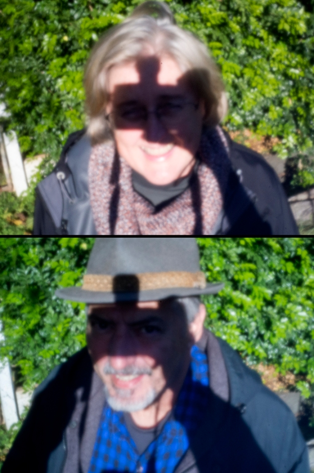 """A duo portrait - camera shadow to block the sun from the eyes --- A bit of self-portrait fun..."""