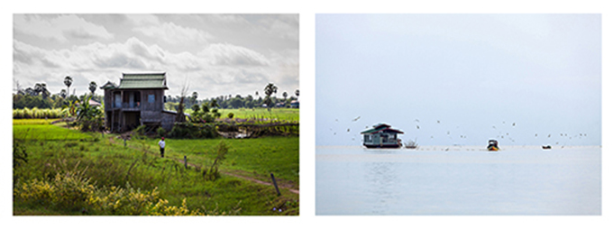 Two photographs by Gavin Brown from the exhibition 'Around the world in 14 days'
