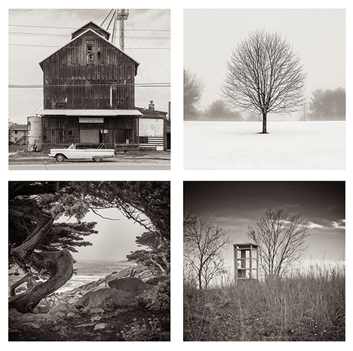 Four photographs by Michael Knapstein from the exhibition 'Around the world in 14 days'