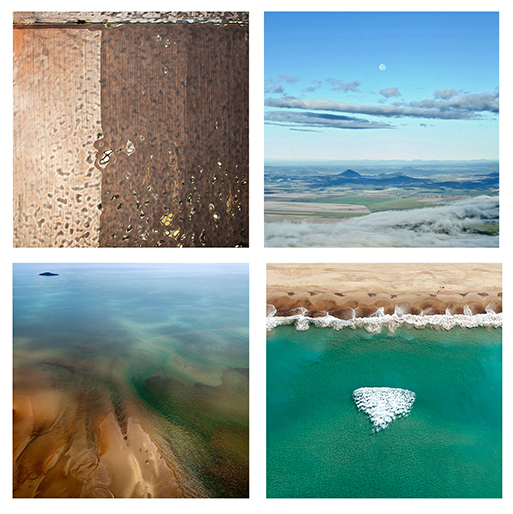 Two photographs by Robyn Hills from the exhibition 'Around the world in 14 days'