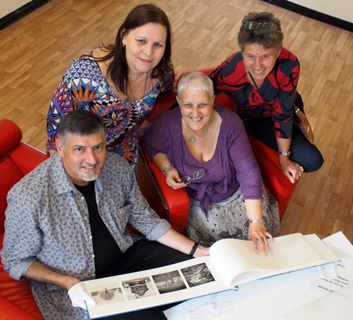 Doug Spowart with Ann Vardanegra, Dawne Fahey and Pauline Neilsen