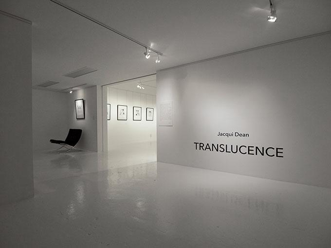 Jacqui Dean's TRANSLUCENCE @ Maud Gallery, Brisbane Photo: Doug