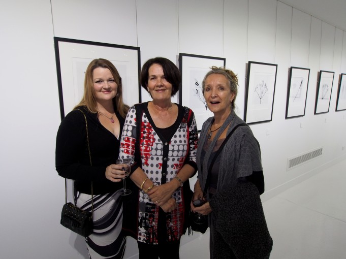 Mel Anderson, Ros Stakes and Lesle Downie @ the opening Maud Gallery  Photo: Doug Spowart