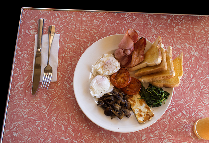 A Hercules breakfast from Peter's Café