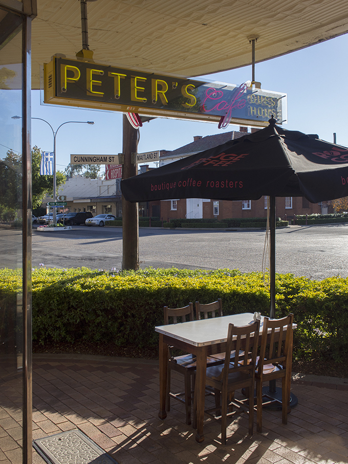 The Roxy Theatre and Peter's Cafe, Bingara PHOTO © 2014 Cooper+Spowart