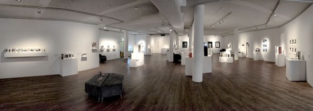 Exhibition installation of 'Books as art'   Photo: Doug Spowart