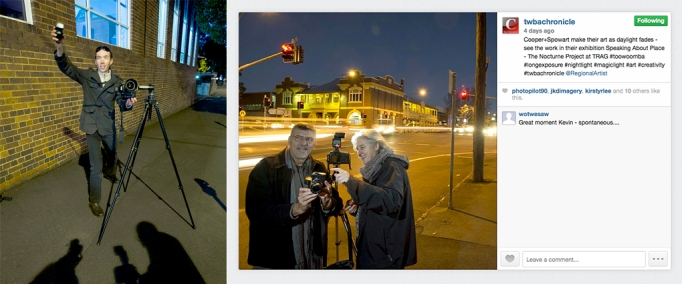 Toowoomba Chronicle photographer get a Nocturne reverse-photo with us - From The Chronicle Instagram feed