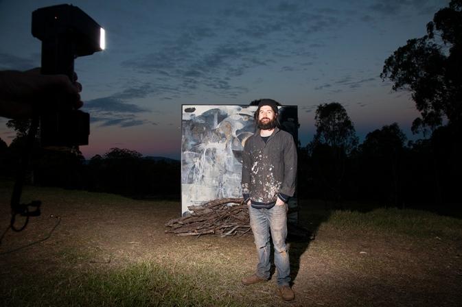 Damien Kamholtz @ the burning  Photo: Cooper+Spowart