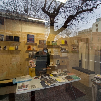 Doug in the APPA space working thru the books on a cold Melbourne winter's day PHOTO: Victoria Cooper