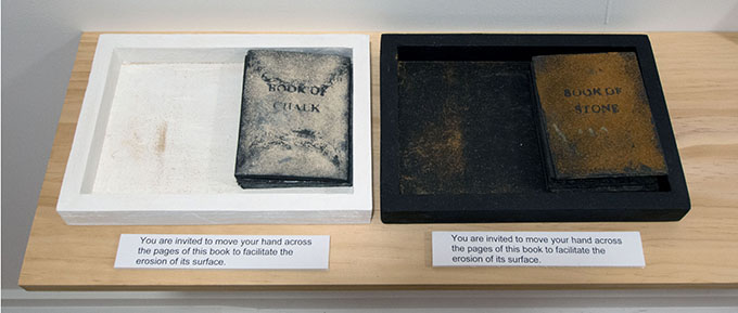 Bridget Hillebrand's Book of Chalk 2014 and Book of Stone 2014