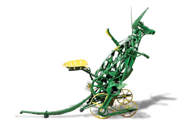 Dion Cross Grass Harvester 2014 Steel sculpture 150 x 60 x 180 cm Courtesy of the artist Image: Spowart + Cooper