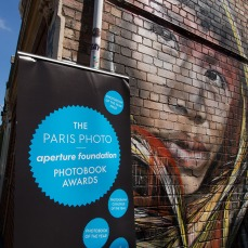 Aperture Books sign and street art – The Baron Said