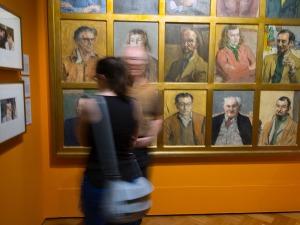 Bohemian Melbourne portrait wall