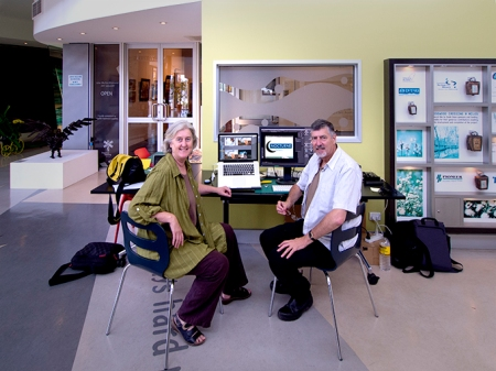Vicky and Doug in the Dogwood Crossing foyer