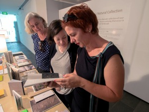 Heidi, Steph and Vicky discussing a book