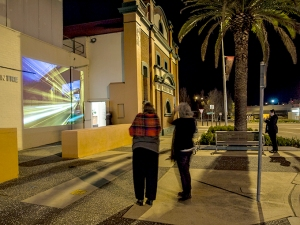 Video projection on MRAC wall