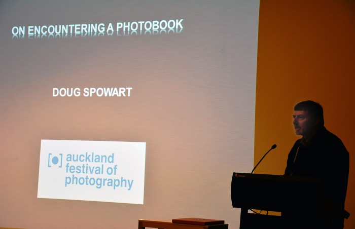 Doug speaking at the Auckland Festival of Photography