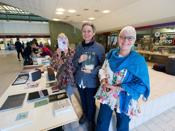 Julie Barratt, Monica Oppen and Helen Cole Artists' Book Fair