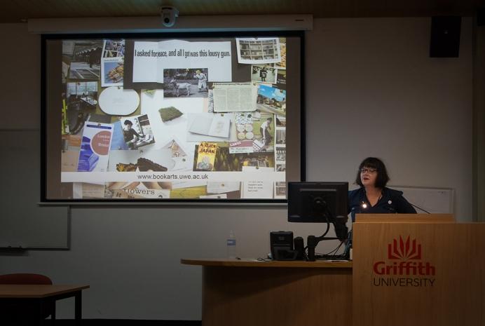 Sarah Bodman presents her keynote lecture