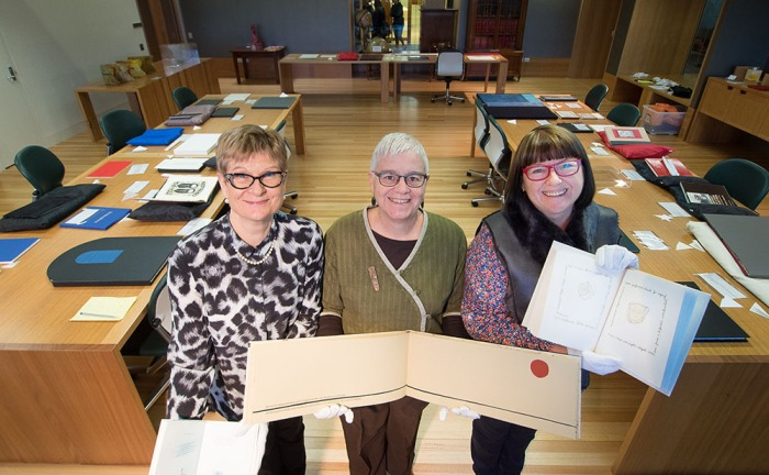 The SLQ White Gloves team Christene, Helen and Jeanette