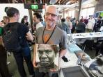 John Ogden Cyclops Press at Volume Artbook Fair Sydney PHOTO: Doug Spowart