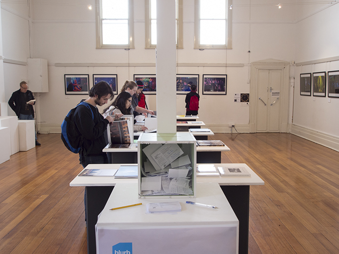BLURB's 'One for the book' Photobook Award display in Trades Hall