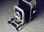 Doug's Graflex 4×5 fitted with a zoneplate