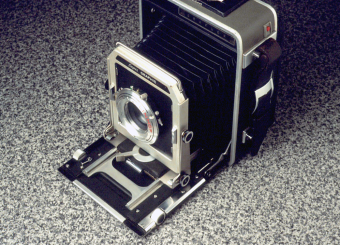 Doug's Graflex 4x5 fitted with a zone plate