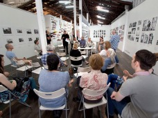 """Up Close"" Artist Talk chaired by Doug Spowart PHOTO: Victoria Cooper"
